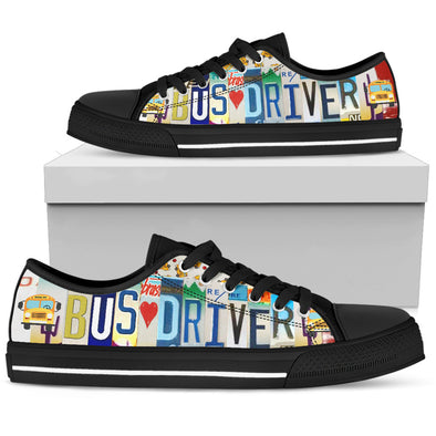 Bus Driver - Women's Low Top Shoe - Black