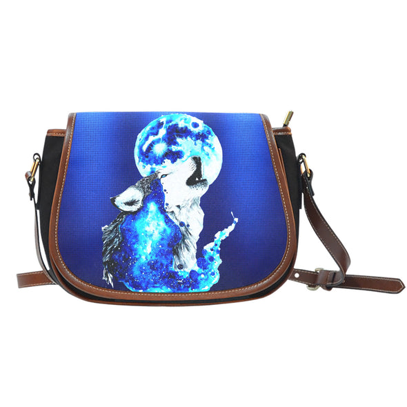 Howling Wolf Blue Moon Shoulder Saddle Bag