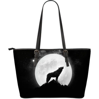 Wolf Howl Large Leather Tote