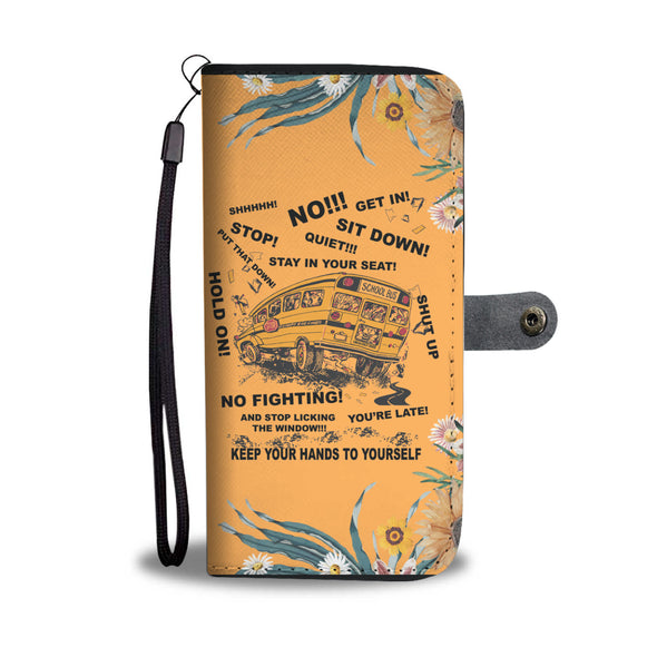#1 Bus Driver Wallet Phone Case