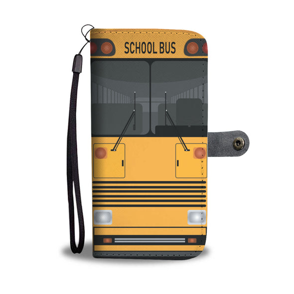 School bus vintage wallet phone case
