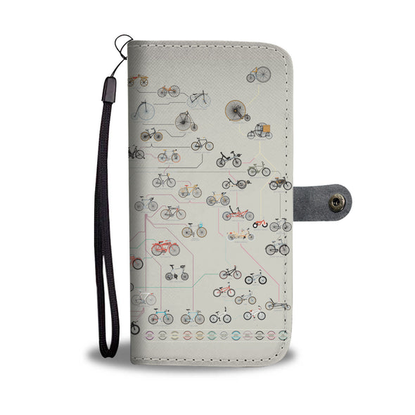 Bicycle revolutions chart wallet phone case