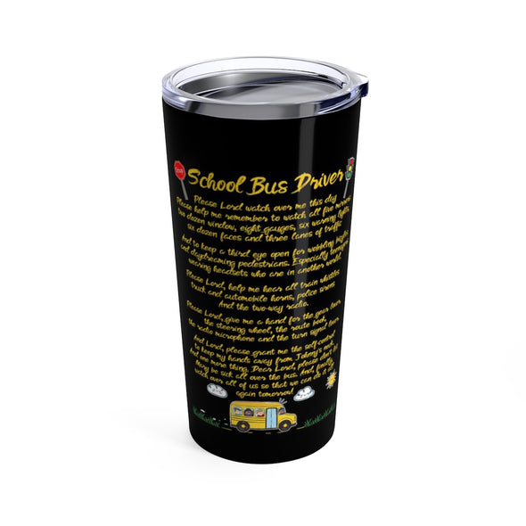 Student delivery specialist school bus tumbler