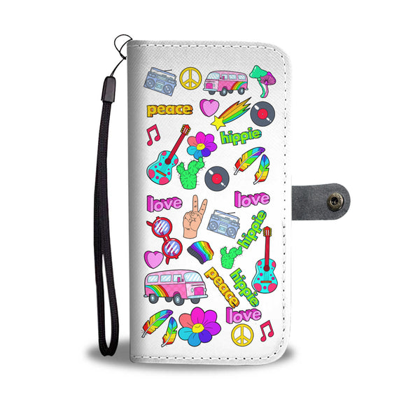 Peace Love and Light - Wallet Phone Case