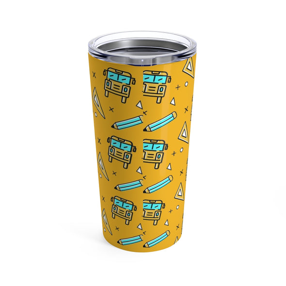 School Bus Pattern Tumbler 20oz