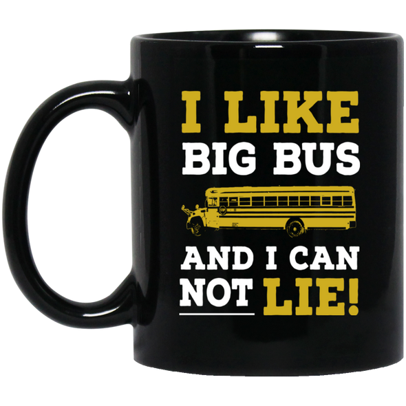 i like big bus Black Mug