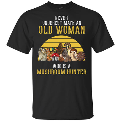 NEVER OLD WOMAN WHO IS A MUSHROOM HUNTER