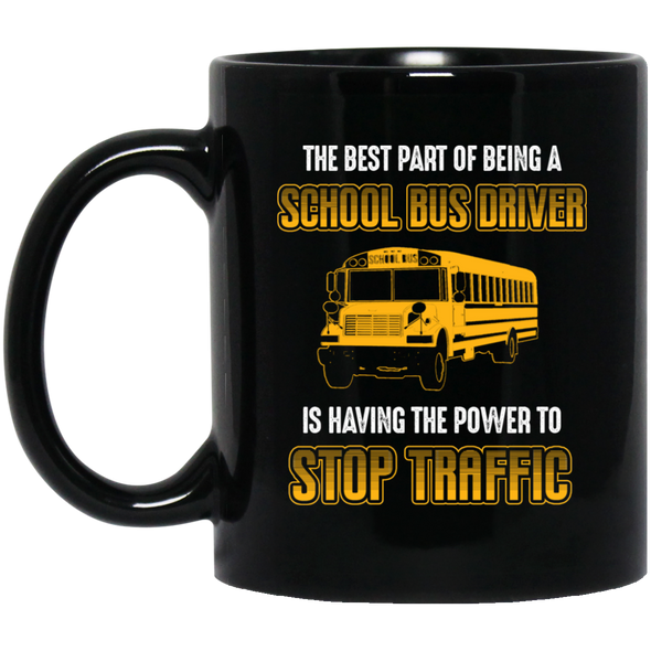 BUS STOP TRAFFIC Black Mug