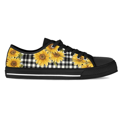 Sunflower Black Plaid Shoes Black & White
