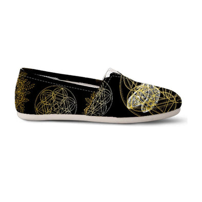 Black and Gold Dragonfly Geo Women's Casual Shoes