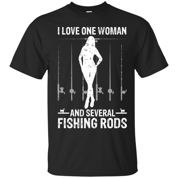 Apparel - I LOVE ONE WOMAN AND SEVERAL FISHING RODS