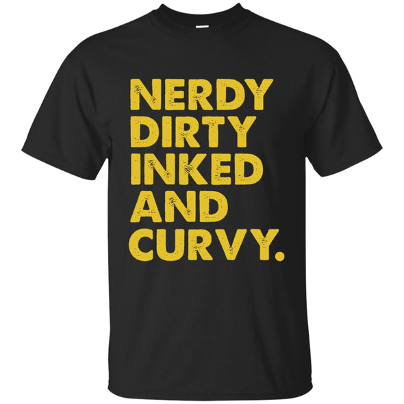 Apparel - Nerdy Dirty Inked And Curvy Yellow