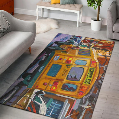 Area Rug - School Bus
