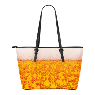 Bags - Beer - Small Leather Tote Bag