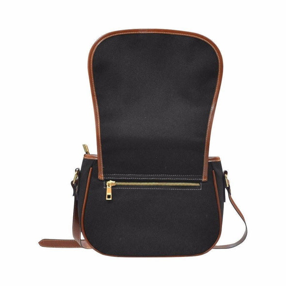 Bags - Chickens Black Canvas Leather Trim Saddle Bag