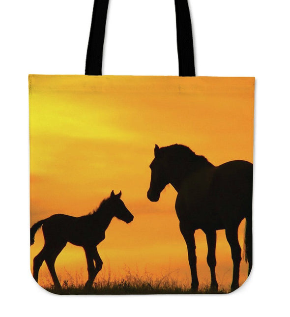 Bags - Horse Mom And Baby - Tote Bags