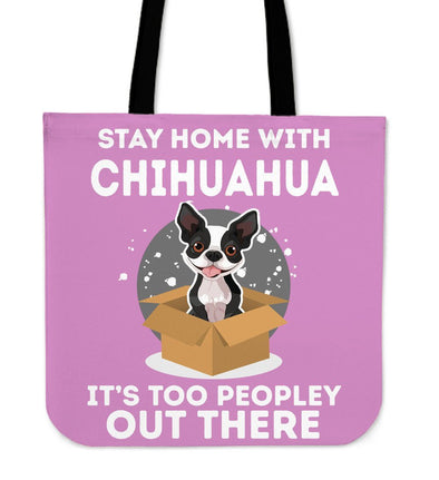 Bags - STAY HOME WITH CHIHUAHUA - PINK
