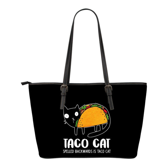 Bags - Taco Cat - Small Leather Tote Bag