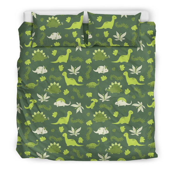 Bedding Sets - Green Dinosaur - Beeding Set White