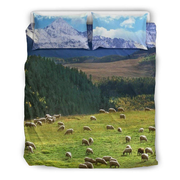 Bedding Sets - Green Mountains - Bedding Set White