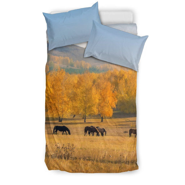 Bedding Sets - Horse In A Field - Bedding Sets White