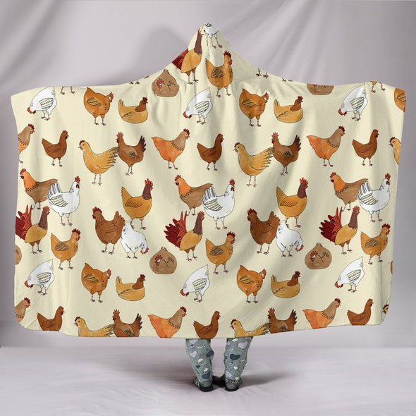 Blankets - Chickens - Hooded Blanket
