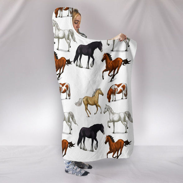 Blankets - Horses - Hooded Blacket