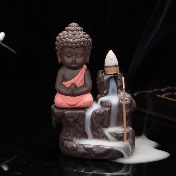 Buddha - The Little Monk Censer Creative Home Decor Small Buddha Incense Holder Backflow
