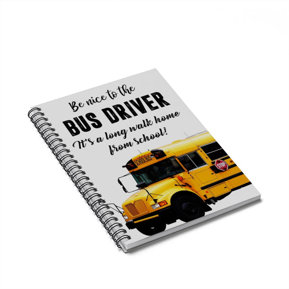 Bus Driver Spiral Notebook - Ruled Line