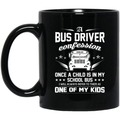 Drinkware - Bus Driver CONFESSION Black Mug