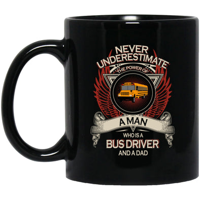 Drinkware - Bus Driver Dad Black Mug