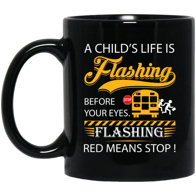 Drinkware - BUS DRIVER FLASHING Black Mug