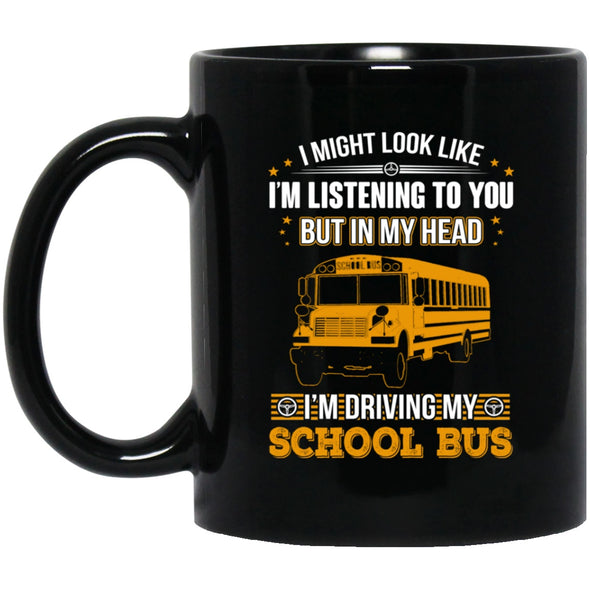 Drinkware - Bus Driver In My Head Black Mug