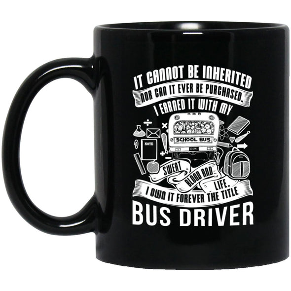 Drinkware - BUS DRIVER INHERITED Black Mug