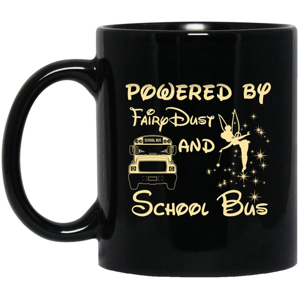 Drinkware - BUS DRIVER POWERED Black Mug