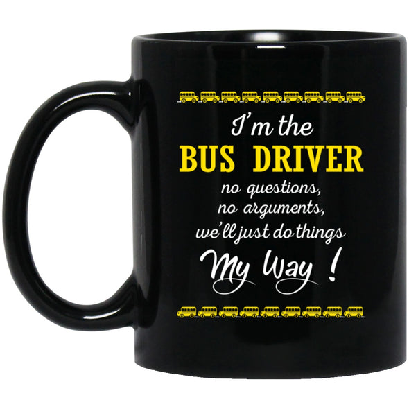 Drinkware - BUS MY WAY Black Mug