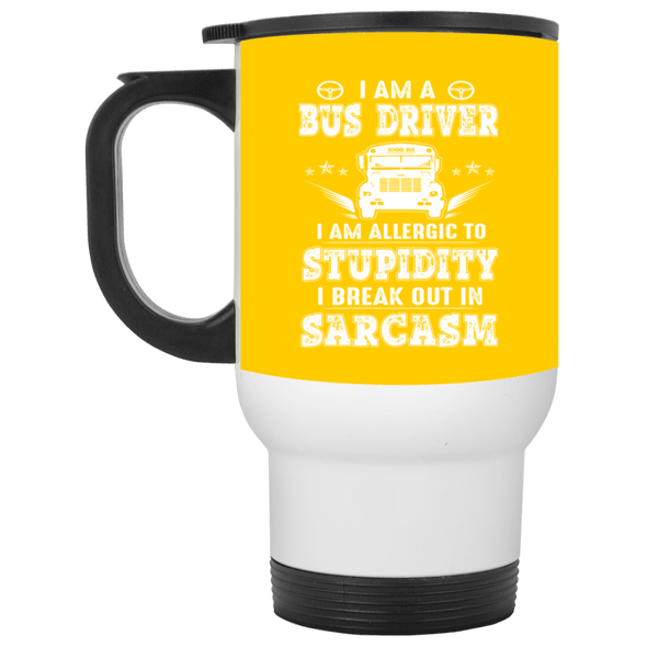 Drinkware - BUS STUPIDITY Travel Mug