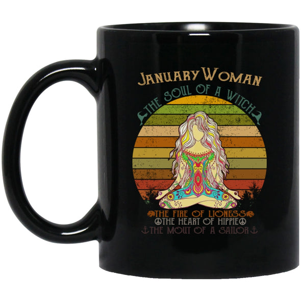 Drinkware - JANUARY-WOMAN Black Mug