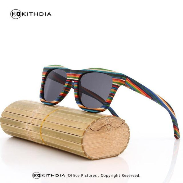 Eyeglass - Original Wooden Bamboo Sunglasses Men Women Mirrored UV400