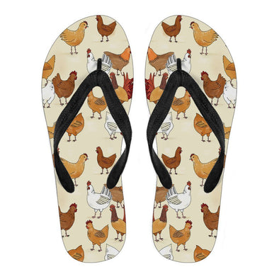 Flipflops - Women Flip Flop Chicken Black