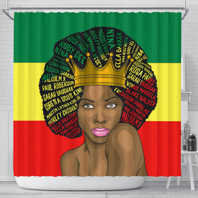 Black History Power Shower Curtains