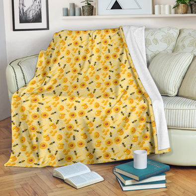 Bee Sunflower Premium Blanket