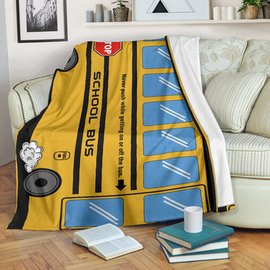 School Bus Premium Blanket