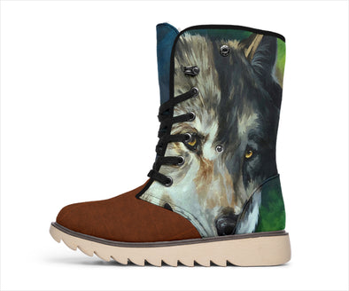 Leather Wolf Polar Boots