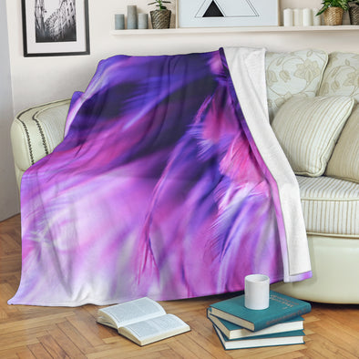 Blur Bird Feather Premium Blanket
