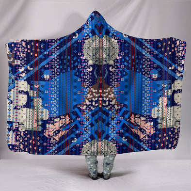 Boho Ethnic Abstract Art Hooded Blanket