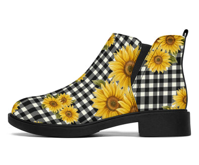 Sunflower Plaid Fashion Boots