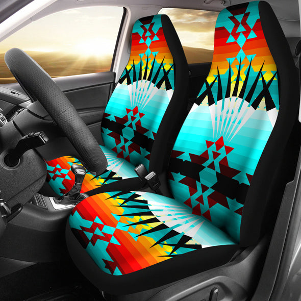 Ribbonwork Bustles Car Seat Covers