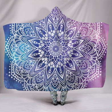 Yoga Mandala II Hooded Blanket