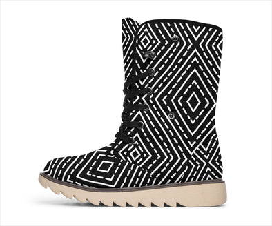 Black Tribal Polar Boots